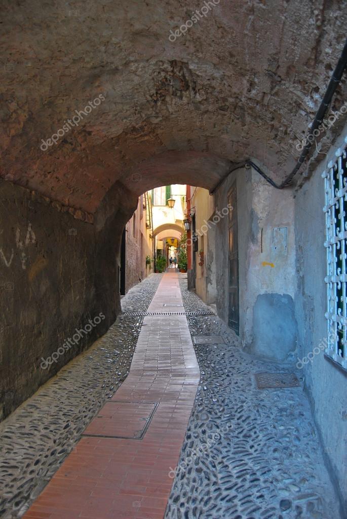 Фотообои Medieval Italian Village, Cervo, Liguria, Italy