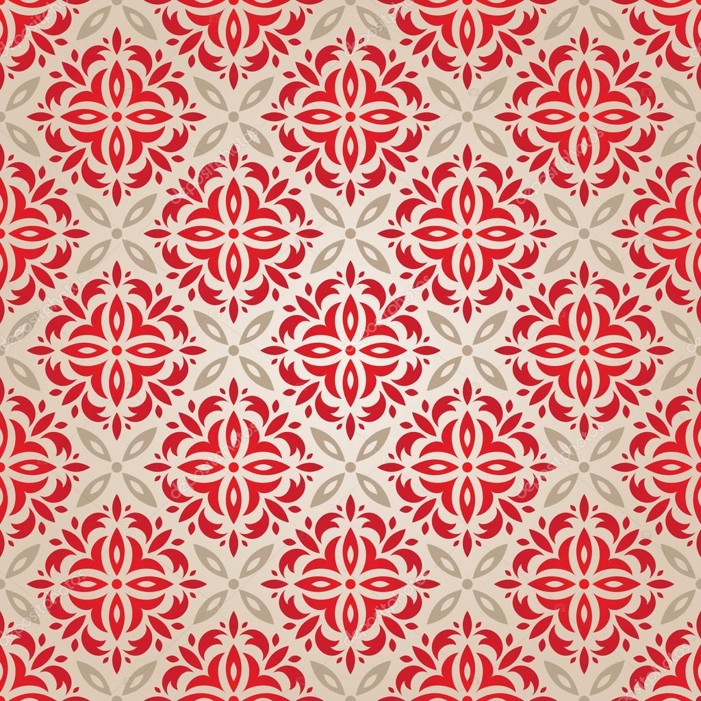 Papier Peint Vintage Rouge Image Vectorielle Evdakovka C 15345833