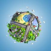 Fényképek Globe fogalmának a világ és az élet-stílusok