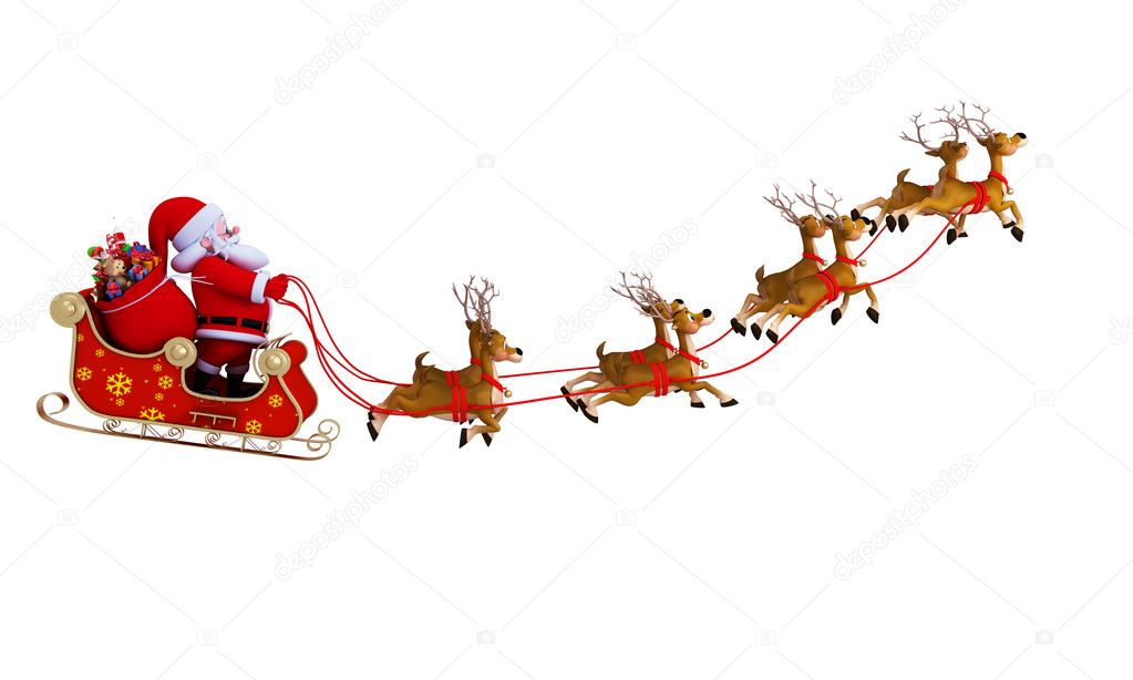 pictures of santa and his sleigh santa claus with his sleigh stock photo 169 pixdesign123 5151