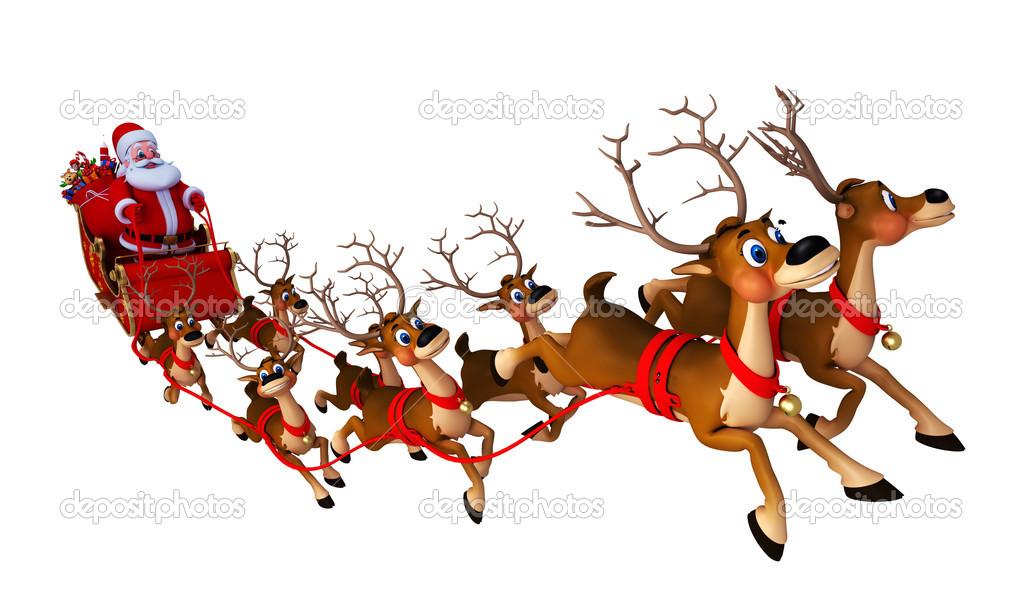 pere noel traineau Père Noël avec son traîneau — Photographie pixdesign123 © #13757058 pere noel traineau