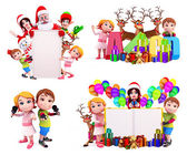 Illustration of christmas characters