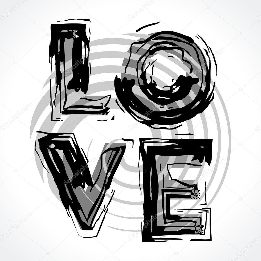 Amor En Blanco Y Negro Archivo Imágenes Vectoriales Borispal