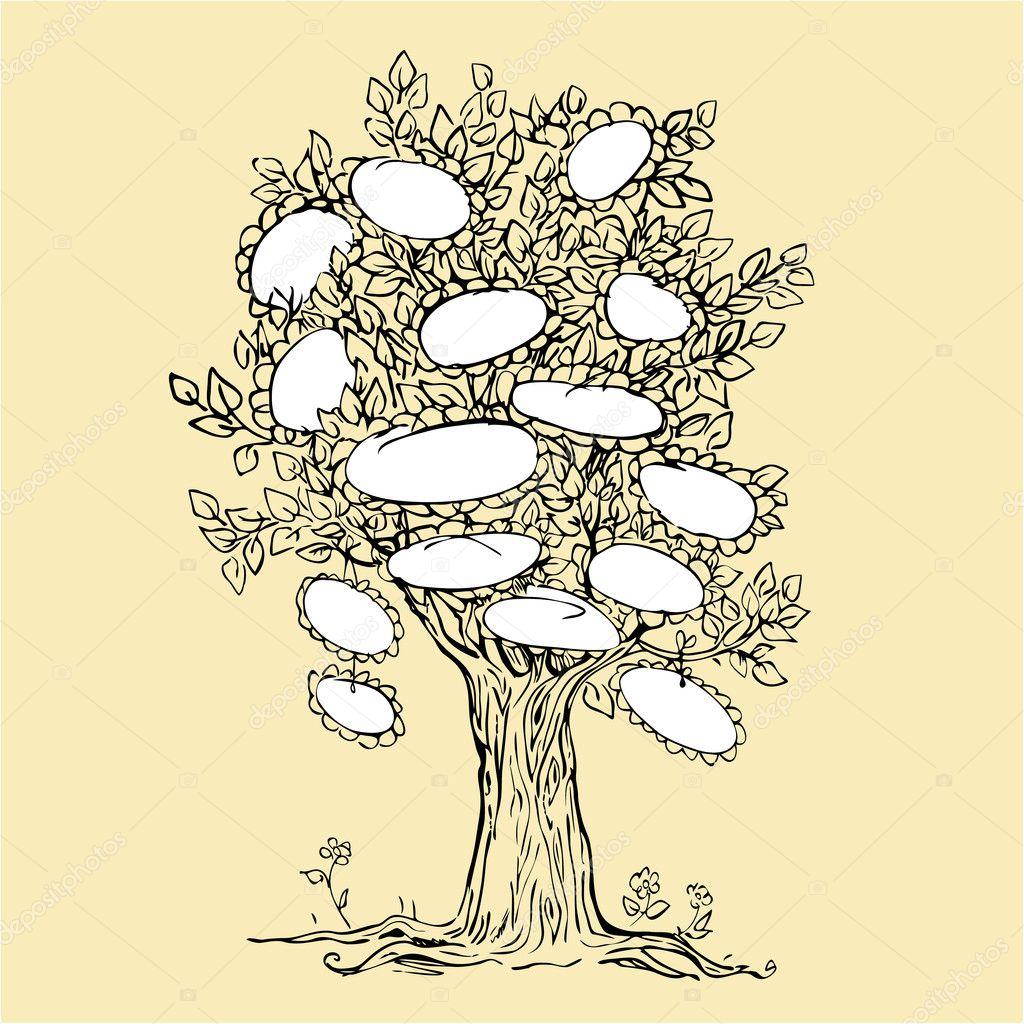 пустое родословное картинка дерево