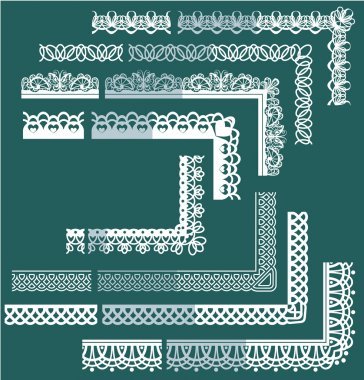 Frame Elements Set - different lace edges and borders