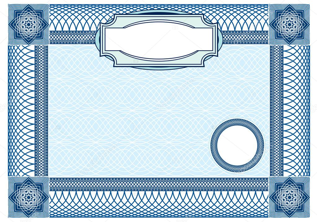Business background, Guilloche ornamental Element for Certificat