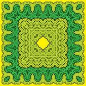Fotografia quadrato - motivi floreali ornamentali con palmo foglie