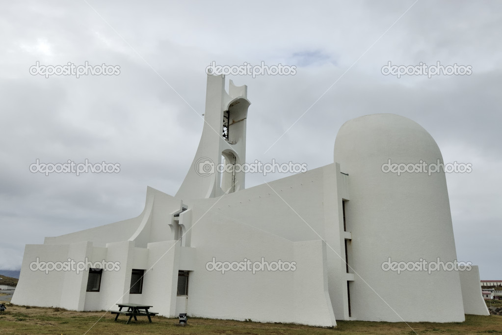 Contemporary church building, Iceland — Stock Photo