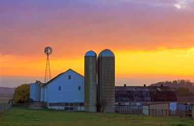 Amish Farm at Sunrise