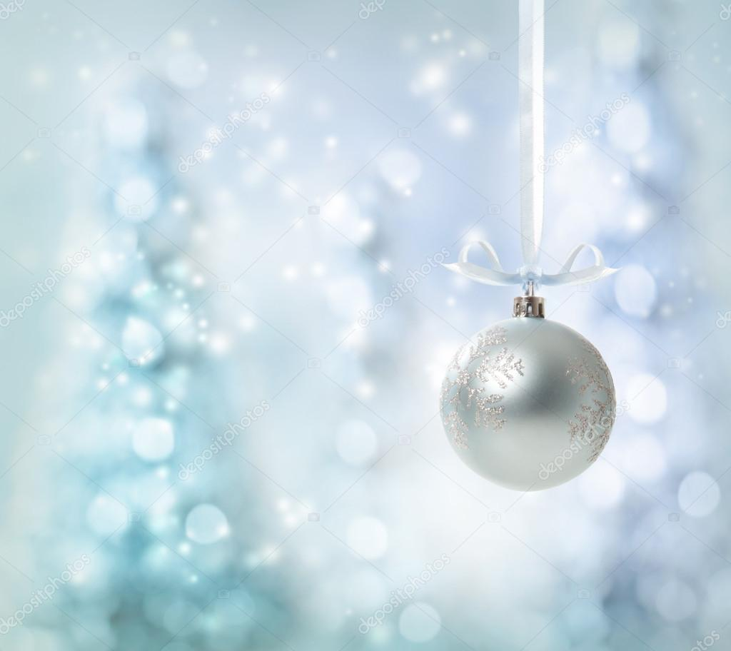 Silver Christmas Ornament — Stock Photo © Melpomene #16163133