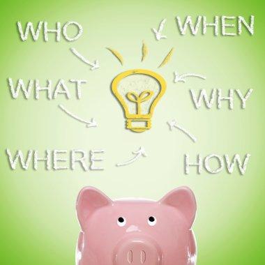 Piggy bank strategy brain storm