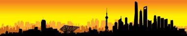 Shanghai Sunset Skyline