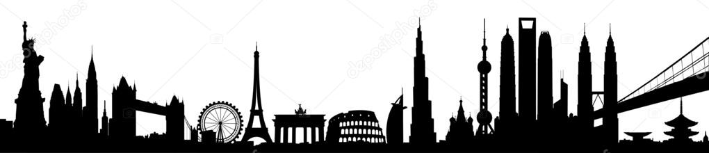 International skyline vector