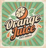 Fotografie Orange juice retro poster