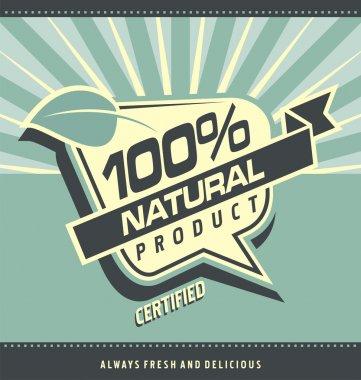 Retro label for organic food