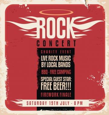 Rock concert retro poster design