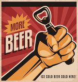 Fotografia cartellonistica retrò birra con pugno di rivoluzione