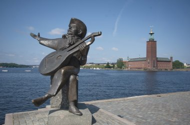 Swedish poet Evert Taube's sculpure, Stockholm