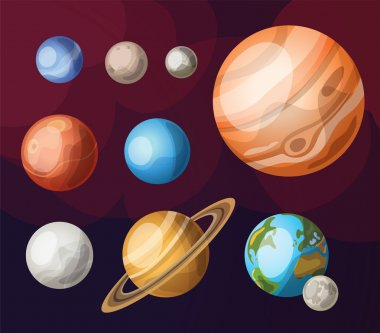 Set of planets of solar system