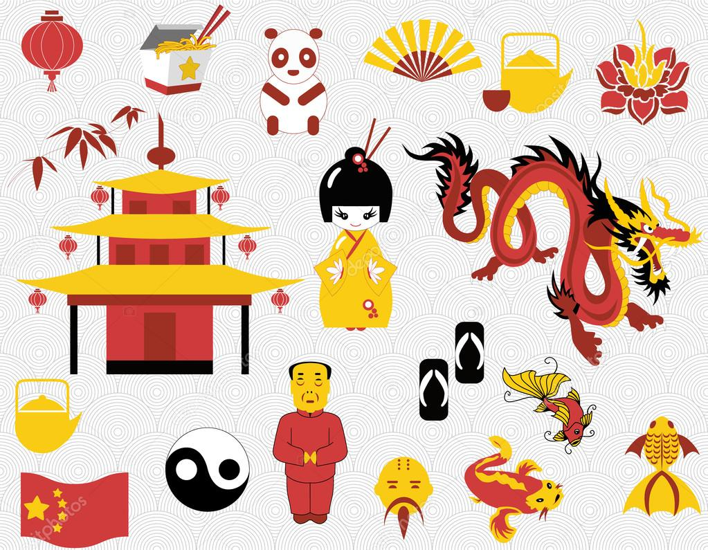 chinese clipart set stock vector mcalas 21512521 rh depositphotos com chinese clipart letters free chinese clipart letters free
