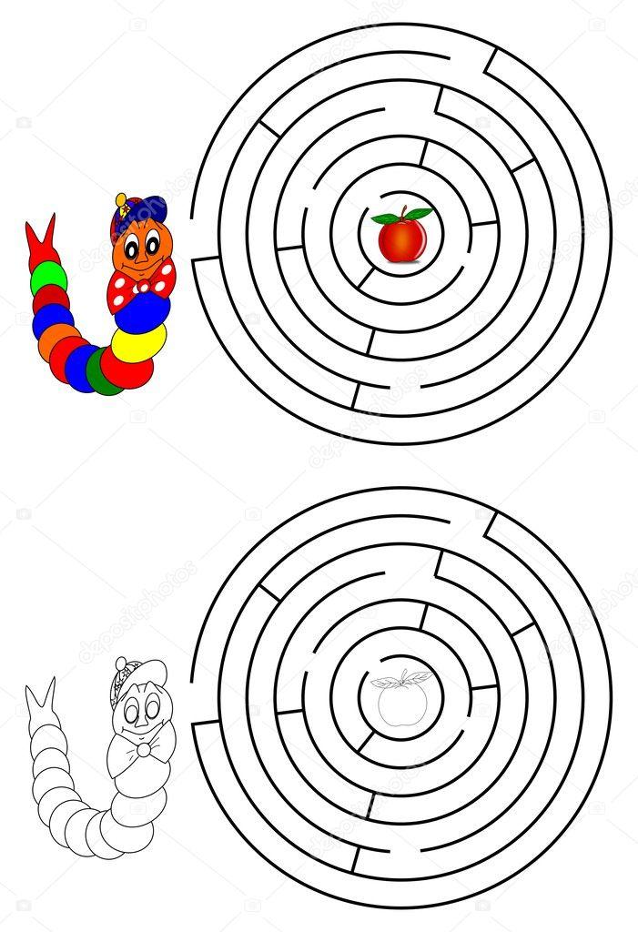 mazmorras y libros para colorear para niños — Foto de stock © petr73 ...
