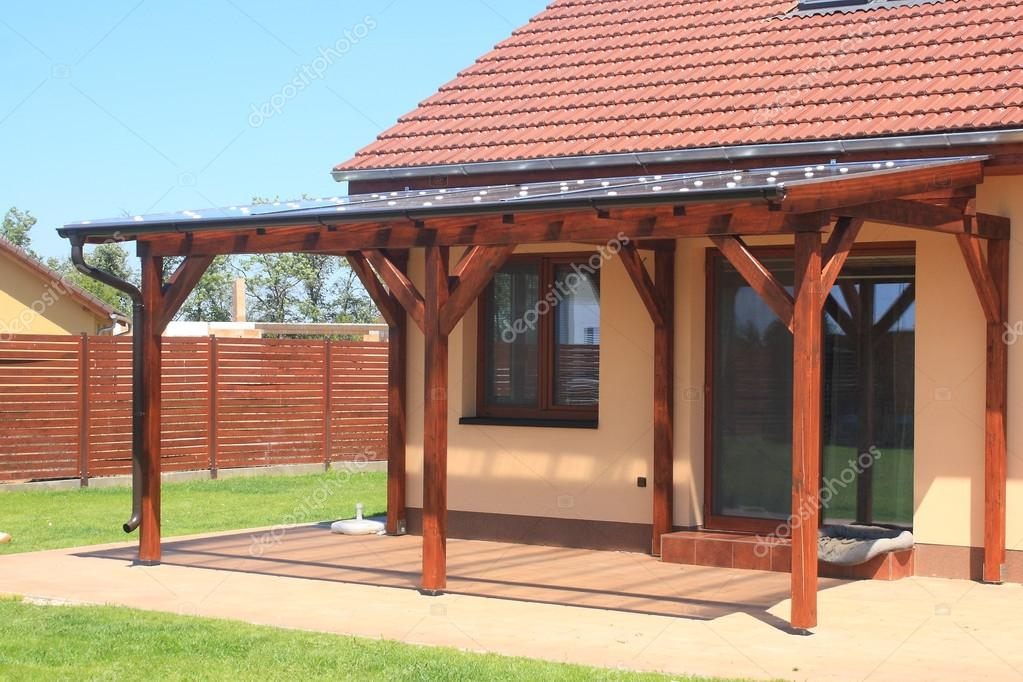 Wooden Pergola With A Covering Of Transparent Polycarbonate Photo By Petr73