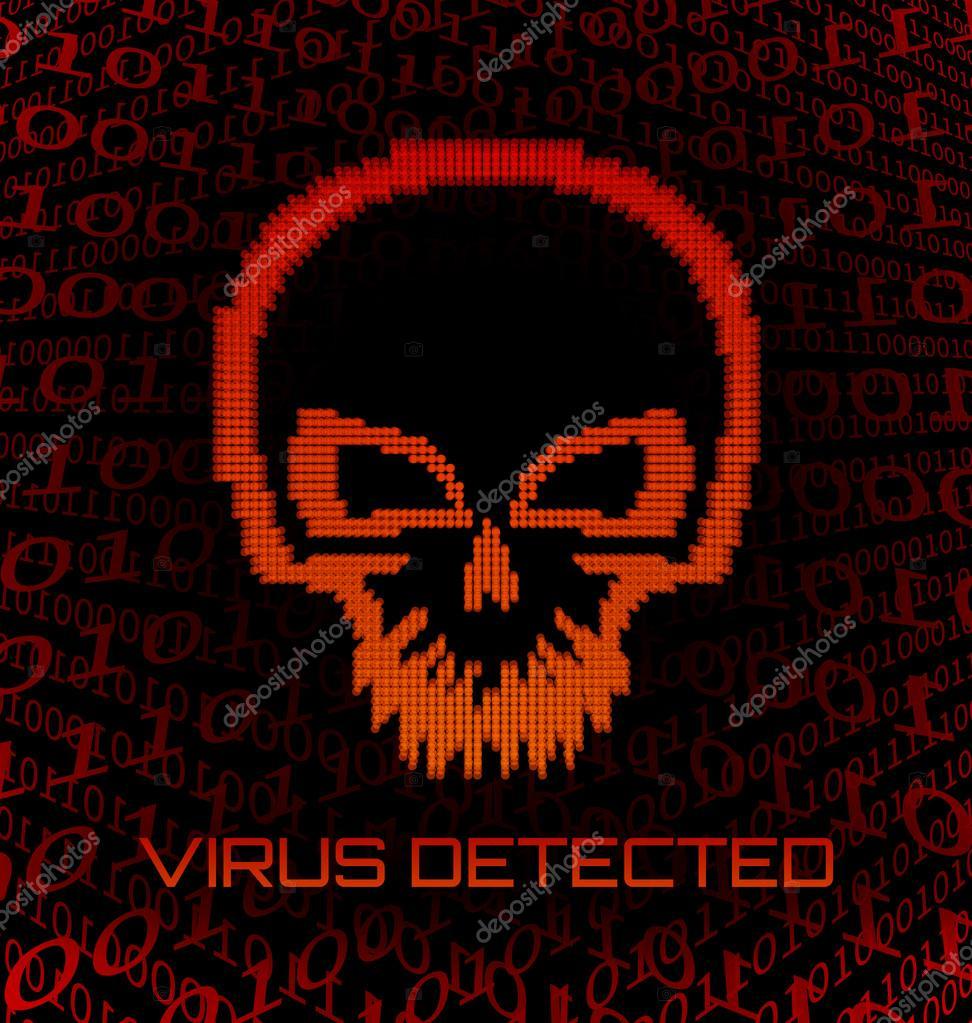 Virus Del Cranio Digitale Vettoriali Stock Hollygraphic 23917813