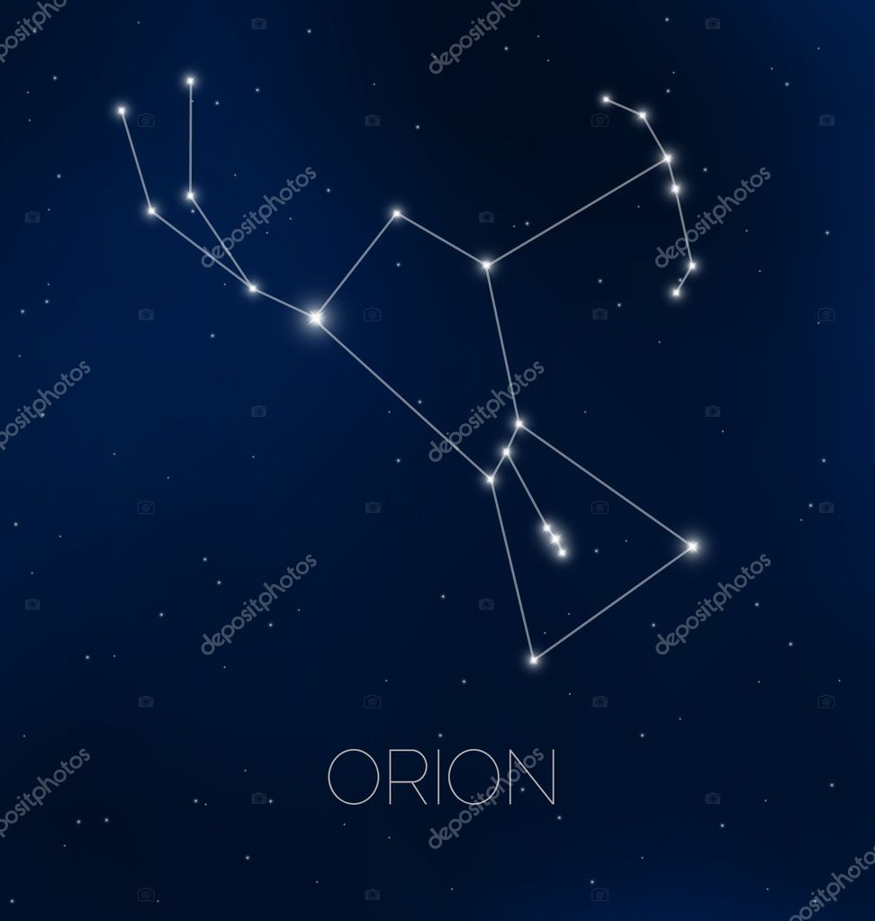 orion constellation in night sky stock vector hollygraphic 42024107