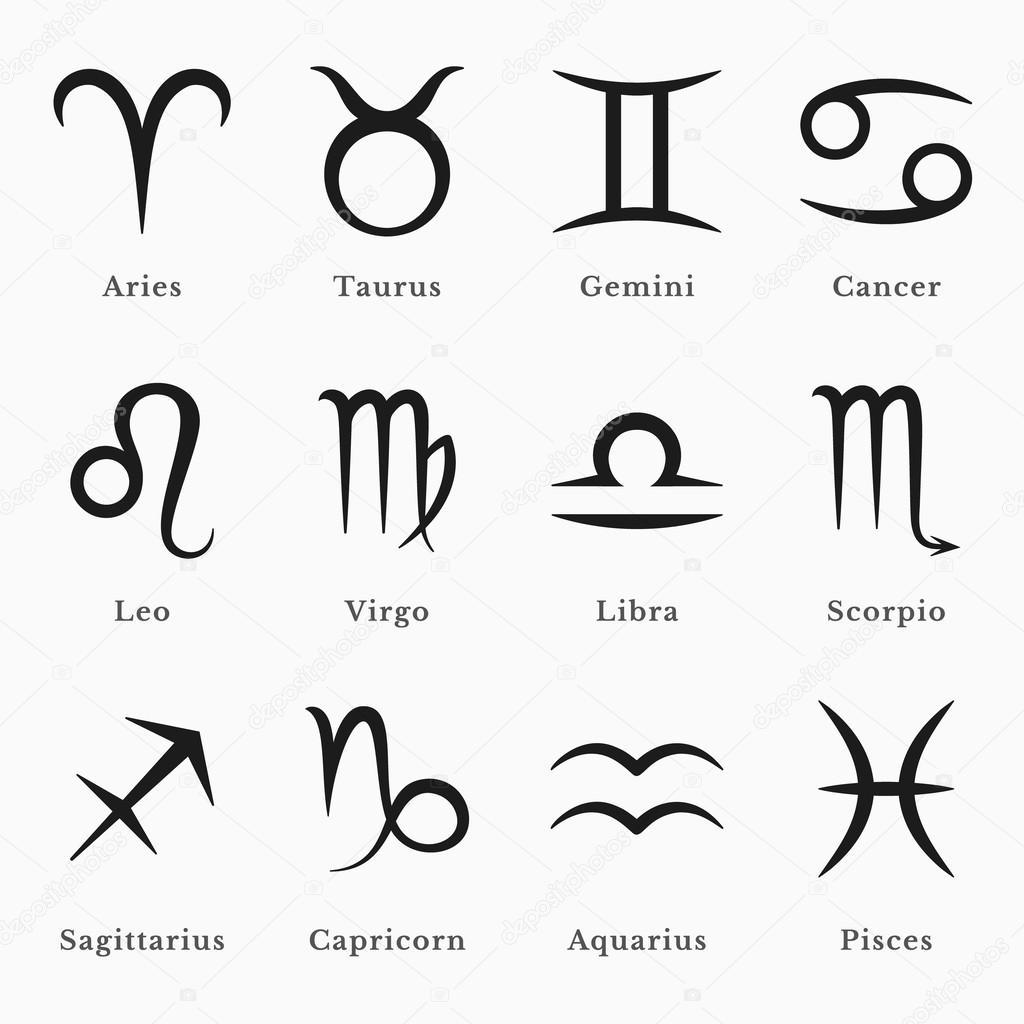 Zodiac Symbols Stock Vector Hollygraphic 46230713