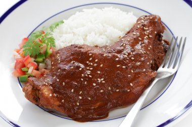 Chicken mole, mexican cuisine