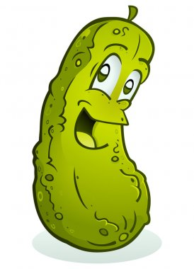 Smiling Pickle Cartoon Character