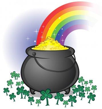 Pot of Gold on Saint Patrick's Day