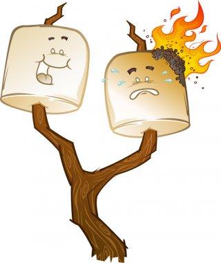 Toasted Marshmallow Cartoon Characters