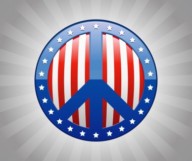 Peace Sign America Symbol Illustration