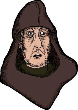 Scared Medieval Man