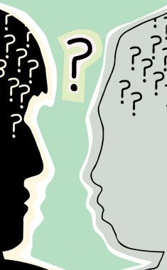 Heads with Question Mark