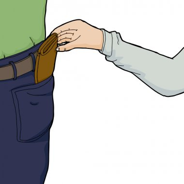 Hand Stealing Wallet