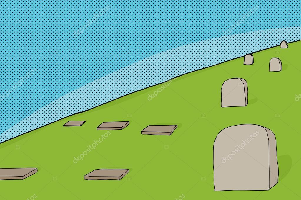 Dibujos Animados De Cementerio