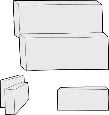Blank Rectangular Boxes
