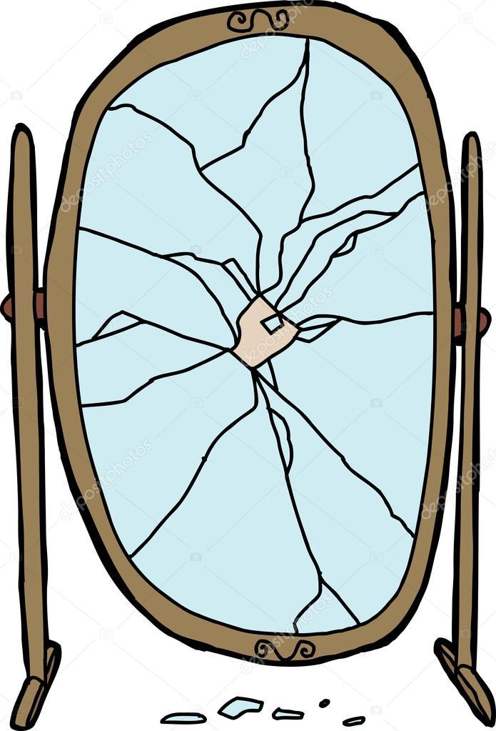 Shattered mirror stock vector 47173673 for Spiegel cartoon