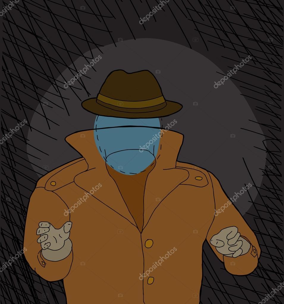 Invisibile paura dell uomo u vettoriali stock theblackrhino