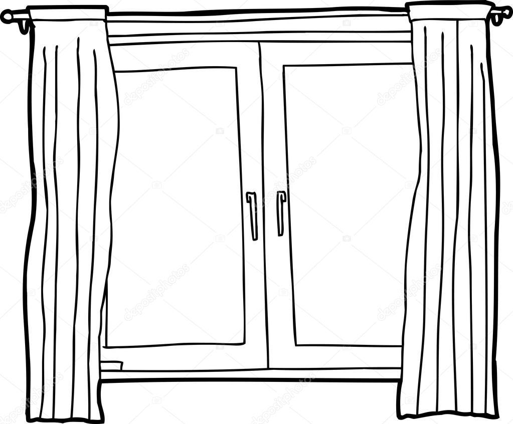 contorno de ventanas abatibles u vector de stock