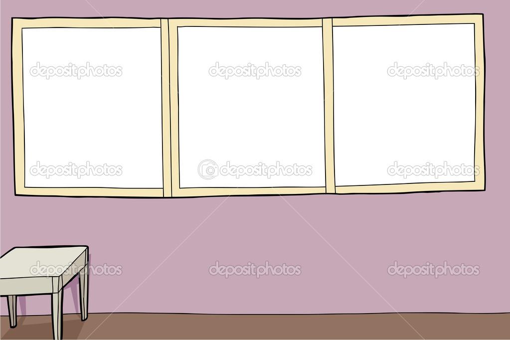 habitación con grandes marcos — Vector de stock © theblackrhino ...