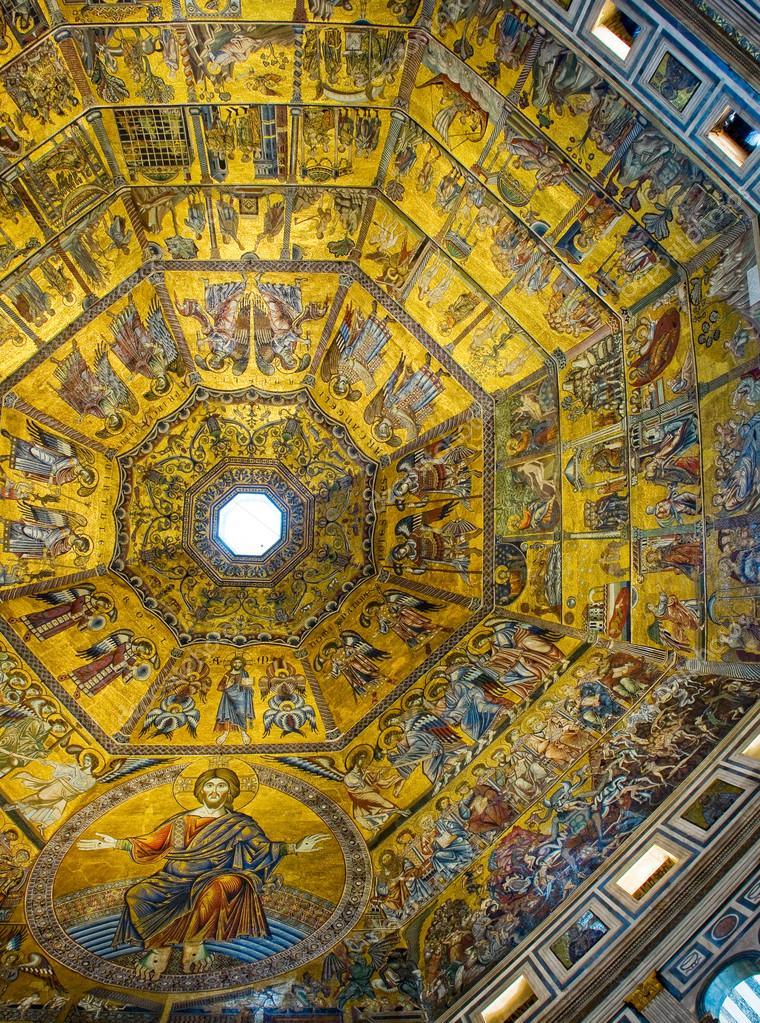 Cupola del battistero di san giovanni italia foto stock for Piani di cupola pdf