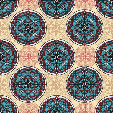 Stylish ethnic seamless texture