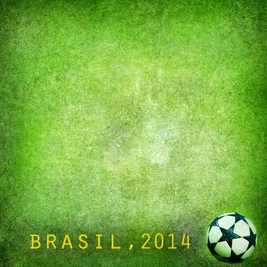 Grunge background - Brazil World Cup 2014. Space for text