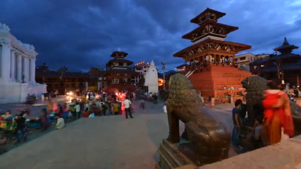 Night time lapse of the Durbar square. Kathmandu, Nepal