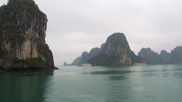 Ships sailing in Halong Bay, Vietnam