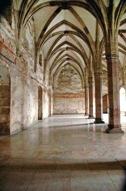 Interior of Corvinesti Castle, Hunedoara, Romania