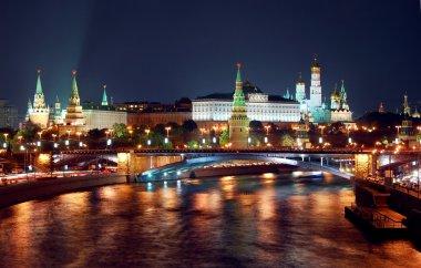 Moscow Kremlin night panorama